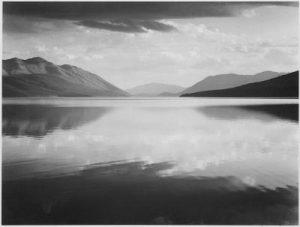 Ansel_Adams_-_Evening,_McDonald_Lake