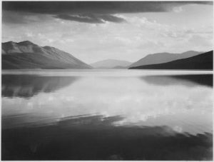 Ansel_Adams_-_Evening,_McDonald_Lake