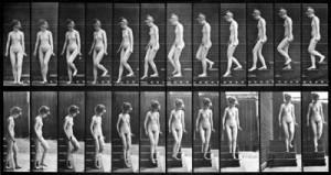 Eadweard_Muybridge_-_Žena_scházející_ze_schodů,_studie