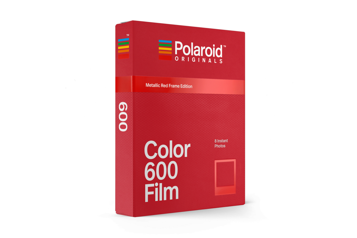 Polaroid 600 Color Film Metallic Red Frame