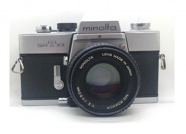 Minolta SRT 101 + objektiv 55/1.7