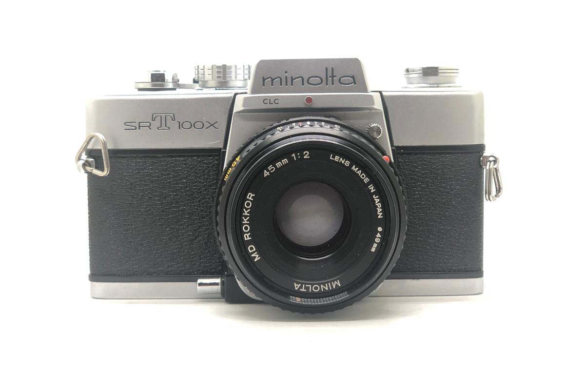 Minolta SRT 100x + objektiv 45/2